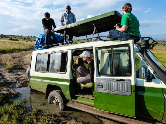 Stranded in the Serengeti.