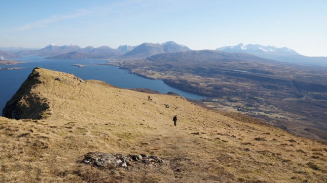 First day on the Isle of Skye, walking up Ben Tianavaig.