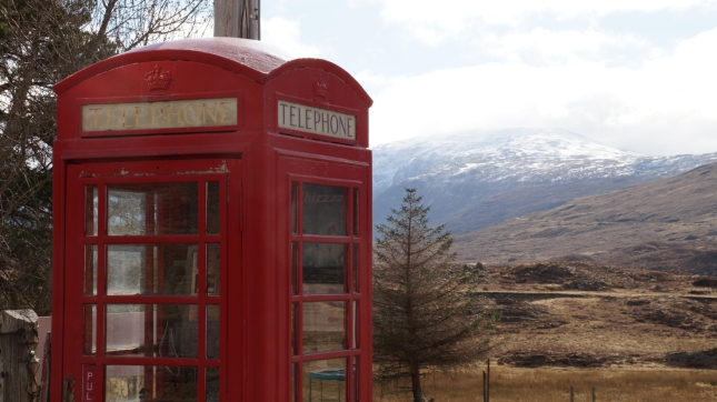 They have a lot of red phone booths in the highlands as well!