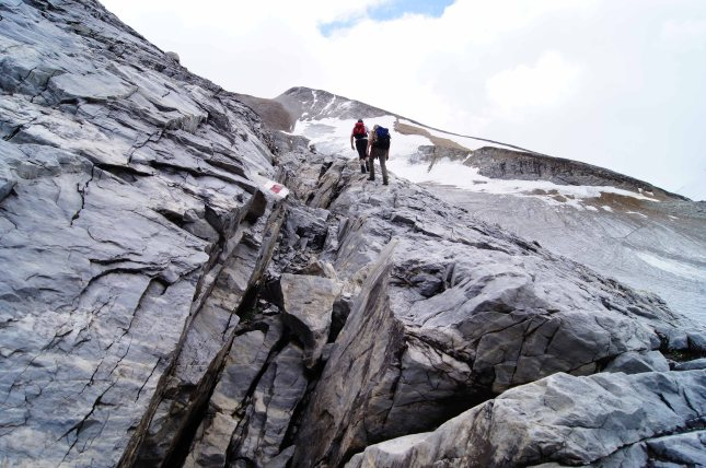 On the way to the summit.